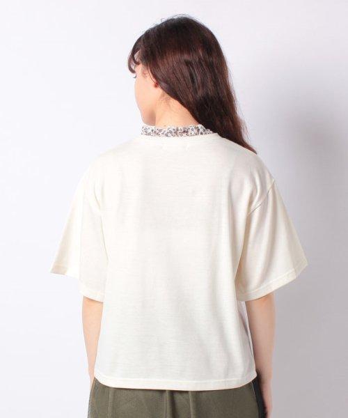 WEGO(ウィゴー)/WEGO/フラワーフリルネックロゴTシャツ/WE19SM06L1553_img14