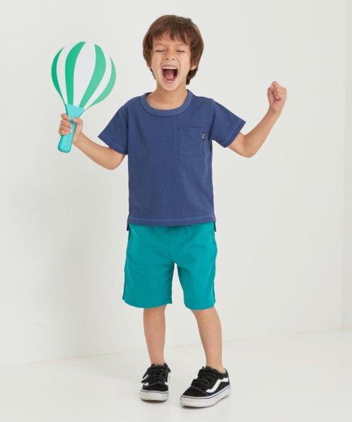 green label relaxing (Kids)(グリーンレーベルリラクシング(キッズ))/◆【キッズ】〔吸水速乾〕ドライワッフルポケットTシャツ/38171991581_img15