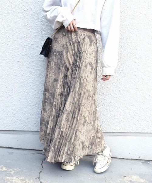 Khaju(カージュ)/《予約》Khaju:プリントプリーツスカート/323240207_img01