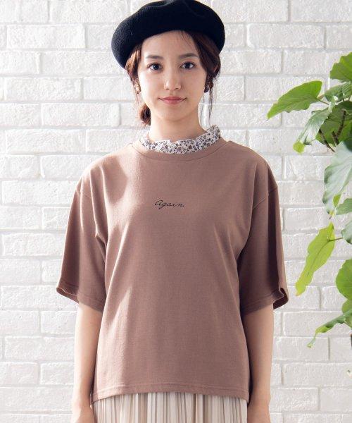 WEGO(ウィゴー)/WEGO/フラワーフリルネックロゴTシャツ/WE19SM06L1553_img10
