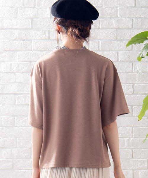 WEGO(ウィゴー)/WEGO/フラワーフリルネックロゴTシャツ/WE19SM06L1553_img12