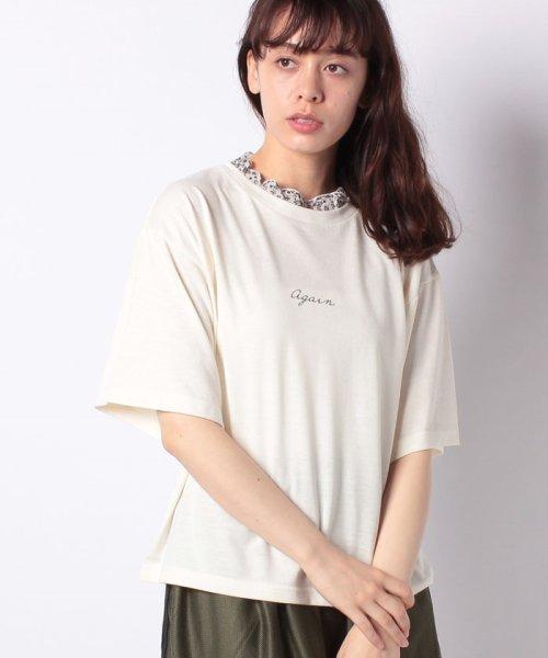 WEGO(ウィゴー)/WEGO/フラワーフリルネックロゴTシャツ/WE19SM06L1553_img17