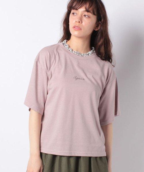 WEGO(ウィゴー)/WEGO/フラワーフリルネックロゴTシャツ/WE19SM06L1553_img19
