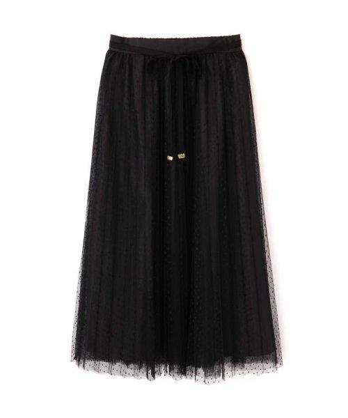 PROPORTION BODY DRESSING(プロポーション ボディドレッシング)/◆ドットチュールプリーツスカート/1219220802_img01