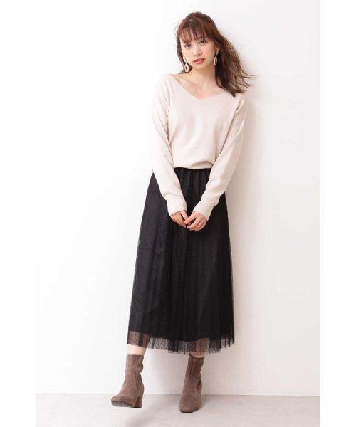PROPORTION BODY DRESSING(プロポーション ボディドレッシング)/◆ドットチュールプリーツスカート/1219220802_img02