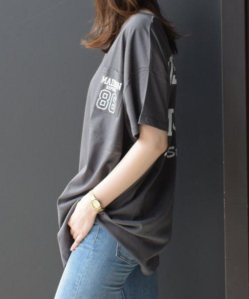 felt maglietta(フェルトマリエッタ)/トレンドオーバーサイズが可愛いフェストップスロンT/am117_img13