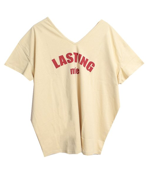 felt maglietta(フェルトマリエッタ)/シンプルロゴ両VネックオーバーTシャツ/am141_img15