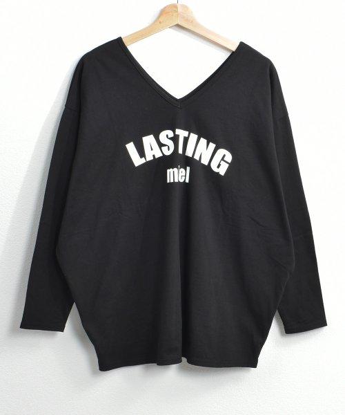 felt maglietta(フェルトマリエッタ)/シンプルロゴ両VネックオーバーTシャツ/am141_img16
