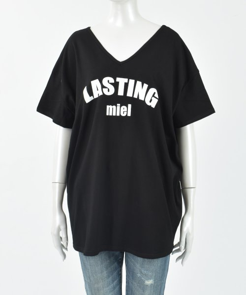 felt maglietta(フェルトマリエッタ)/シンプルロゴ両VネックオーバーTシャツ/am141_img17
