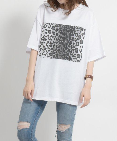 felt maglietta(フェルトマリエッタ)/ヒョウ柄BIGシルエットTシャツ/am216_img01