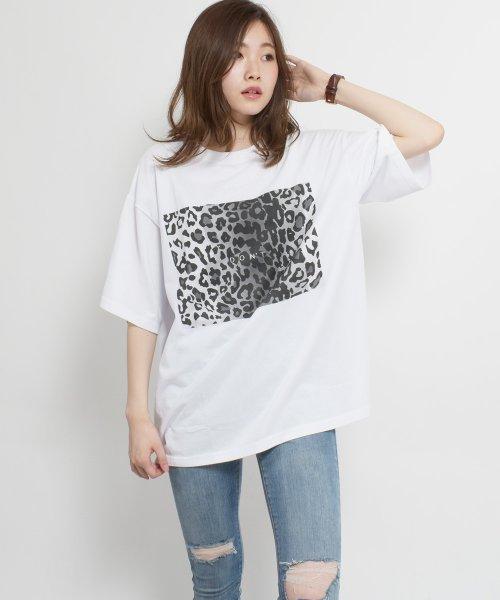 felt maglietta(フェルトマリエッタ)/ヒョウ柄BIGシルエットTシャツ/am216_img02