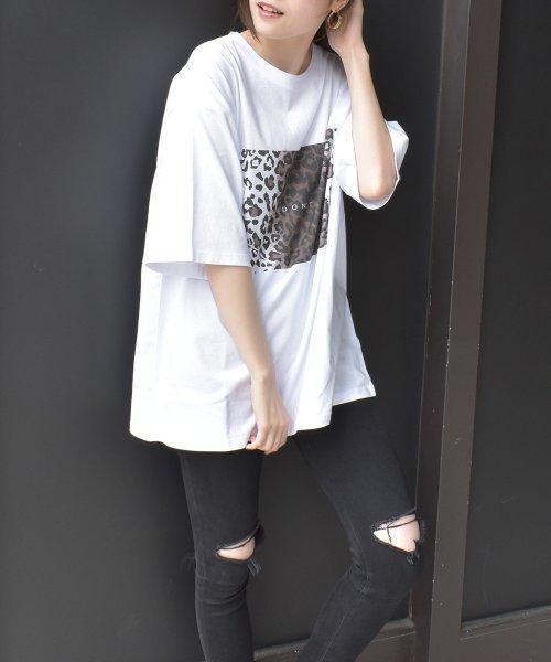 felt maglietta(フェルトマリエッタ)/ヒョウ柄BIGシルエットTシャツ/am216_img03