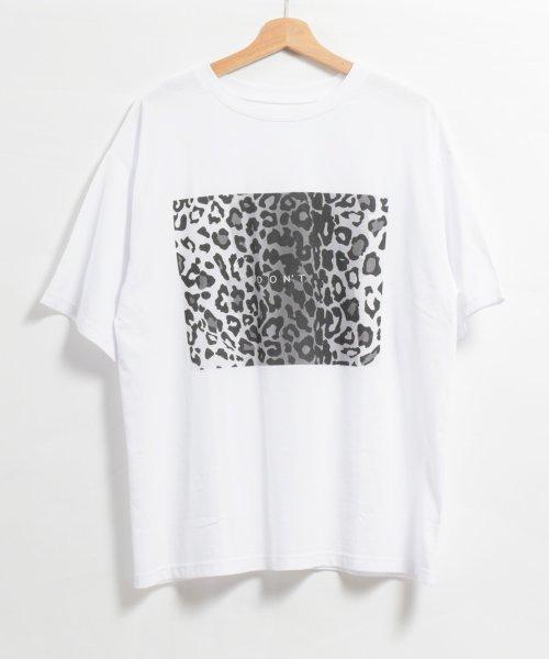 felt maglietta(フェルトマリエッタ)/ヒョウ柄BIGシルエットTシャツ/am216_img04