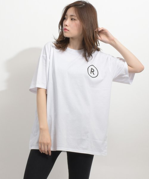 felt maglietta(フェルトマリエッタ)/英字ロゴオーバーサイズTシャツ/am218_img02