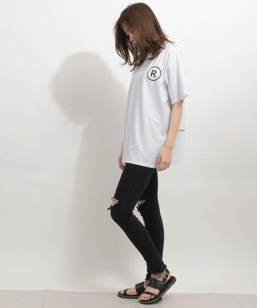 felt maglietta(フェルトマリエッタ)/英字ロゴオーバーサイズTシャツ/am218_img03