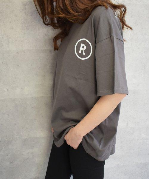 felt maglietta(フェルトマリエッタ)/英字ロゴオーバーサイズTシャツ/am218_img04