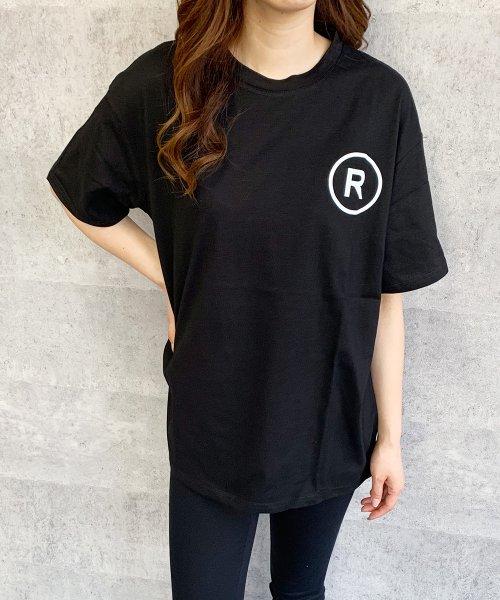 felt maglietta(フェルトマリエッタ)/英字ロゴオーバーサイズTシャツ/am218_img05