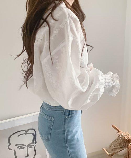 felt maglietta(フェルトマリエッタ)/刺繍レースブラウス/am220_img04
