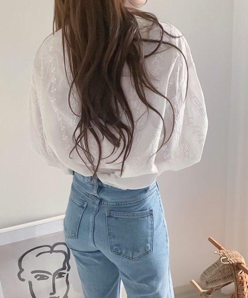 felt maglietta(フェルトマリエッタ)/刺繍レースブラウス/am220_img05