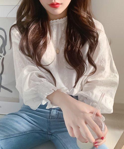 felt maglietta(フェルトマリエッタ)/刺繍レースブラウス/am220_img06