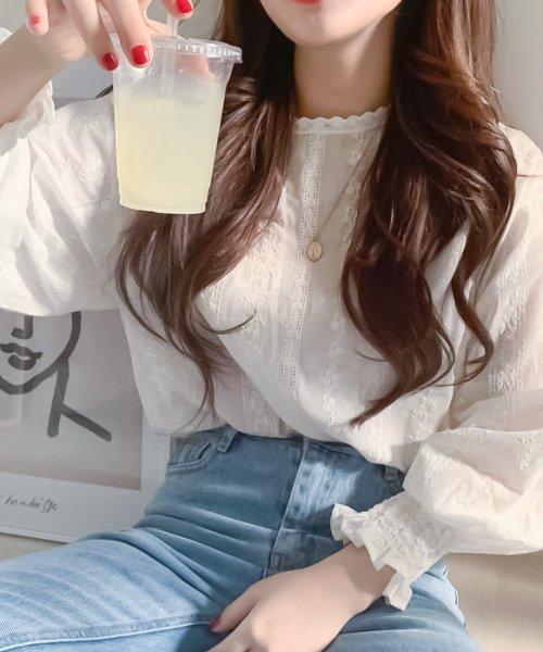 felt maglietta(フェルトマリエッタ)/刺繍レースブラウス/am220_img07