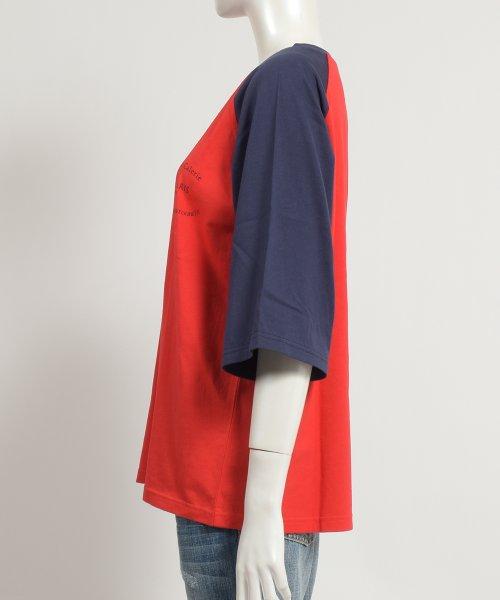 felt maglietta(フェルトマリエッタ)/ゆったり着れるバイカラーロゴTシャツ/am221_img02