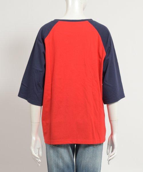 felt maglietta(フェルトマリエッタ)/ゆったり着れるバイカラーロゴTシャツ/am221_img03