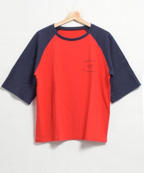 felt maglietta(フェルトマリエッタ)/ゆったり着れるバイカラーロゴTシャツ/am221_img06