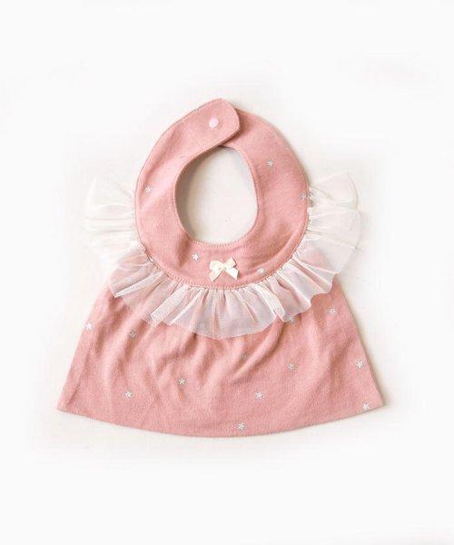 e-baby(イーベビー)/天竺+チュール星プリントフリルスタイ/183415529_img01