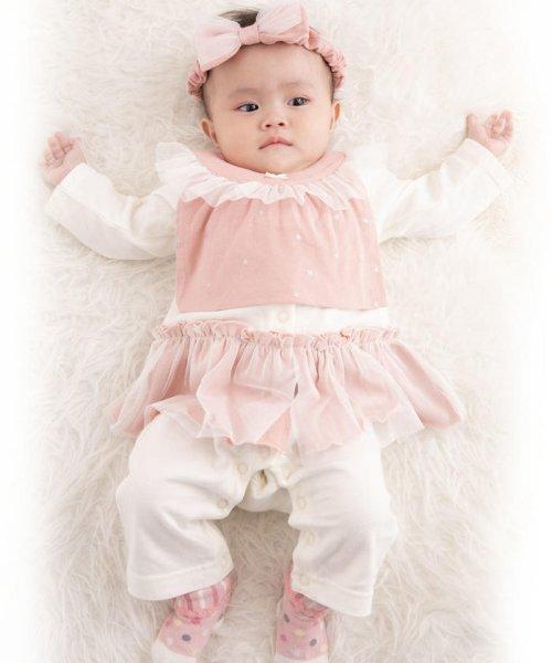 e-baby(イーベビー)/天竺+チュール星プリントフリルスタイ/183415529_img09