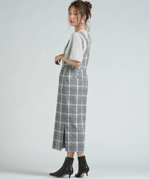 socolla(ソコラ)/【socolla】先染めチェックサイドスリットジャンパースカート/212185009_img09