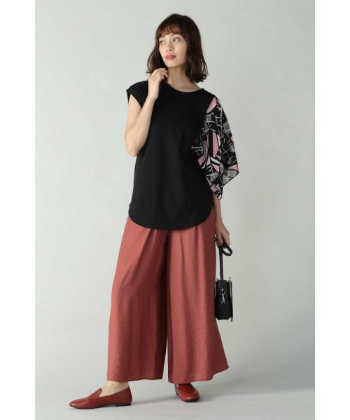 ROSE BUD(ローズバッド)/アシメトリースカーフプリント柄Tシャツ/6019213020_img01