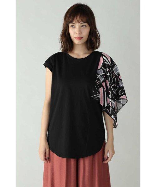 ROSE BUD(ローズバッド)/アシメトリースカーフプリント柄Tシャツ/6019213020_img02