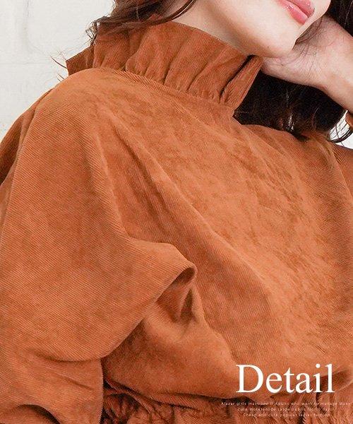 Amulet(アミュレット)/袖ふんわりトップス 30代 40代 ブラウン フレア袖 きれいめファッション レディース ゆったり かわいい 【S/S】【vl-5338】/vl-5338_img14