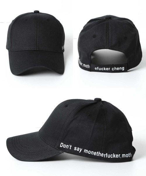 JIGGYS SHOP(ジギーズショップ)/メッセージプリントキャップ / キャップ メンズ 帽子 CAP/205158_img05