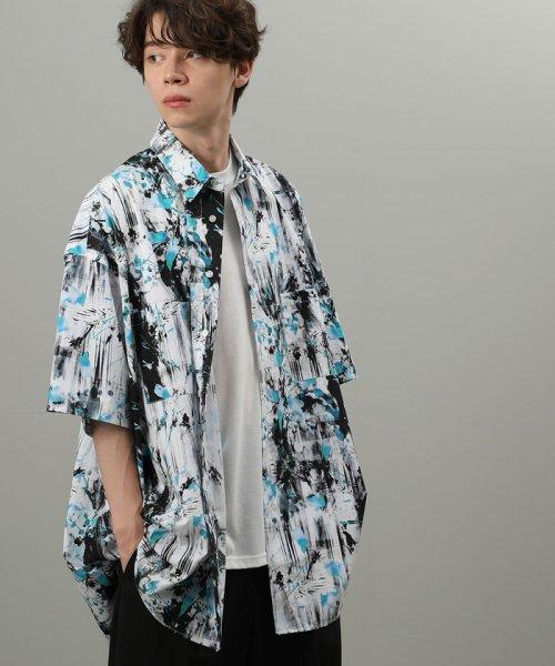 JUNRed(ジュンレッド)/【WEARISTA JUNコラボ】総柄ビッグシャツ/ANG69110_img01