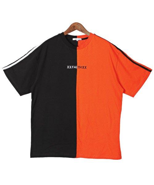 LUXSTYLE(ラグスタイル)/袖ラインロゴ&フォトプリントドッキングBIGTシャツ/Tシャツ メンズ 半袖 ロゴ プリント ビッグシルエット/pm-8575_img10