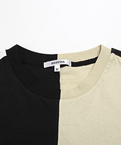 LUXSTYLE(ラグスタイル)/袖ラインロゴ&フォトプリントドッキングBIGTシャツ/Tシャツ メンズ 半袖 ロゴ プリント ビッグシルエット/pm-8575_img15