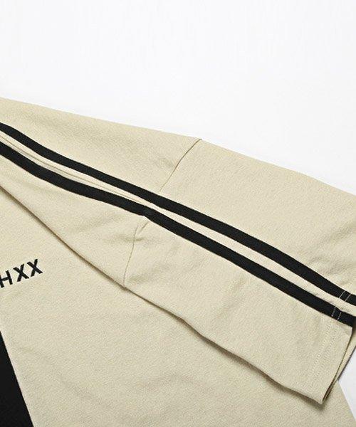 LUXSTYLE(ラグスタイル)/袖ラインロゴ&フォトプリントドッキングBIGTシャツ/Tシャツ メンズ 半袖 ロゴ プリント ビッグシルエット/pm-8575_img16