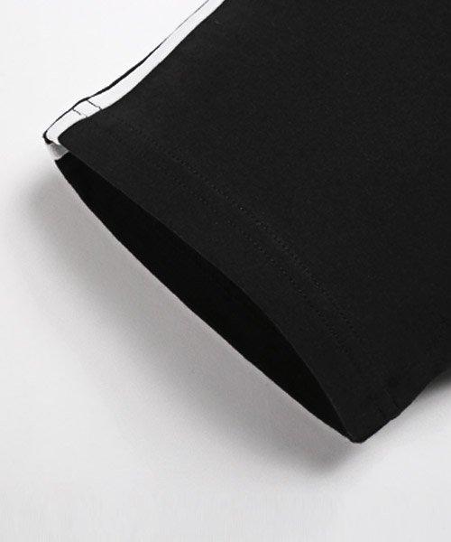 LUXSTYLE(ラグスタイル)/袖ラインロゴ&フォトプリントドッキングBIGTシャツ/Tシャツ メンズ 半袖 ロゴ プリント ビッグシルエット/pm-8575_img17