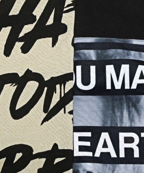 LUXSTYLE(ラグスタイル)/袖ラインロゴ&フォトプリントドッキングBIGTシャツ/Tシャツ メンズ 半袖 ロゴ プリント ビッグシルエット/pm-8575_img20