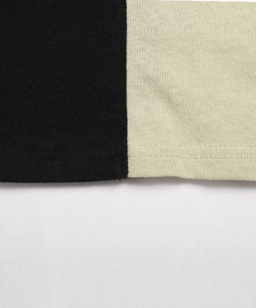 LUXSTYLE(ラグスタイル)/袖ラインロゴ&フォトプリントドッキングBIGTシャツ/Tシャツ メンズ 半袖 ロゴ プリント ビッグシルエット/pm-8575_img21
