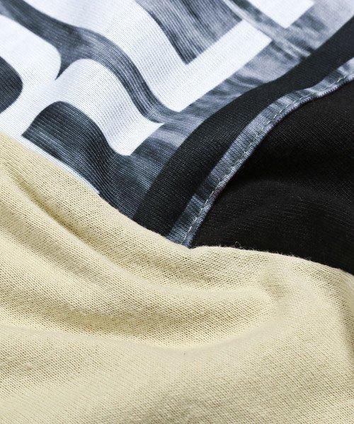 LUXSTYLE(ラグスタイル)/袖ラインロゴ&フォトプリントドッキングBIGTシャツ/Tシャツ メンズ 半袖 ロゴ プリント ビッグシルエット/pm-8575_img22
