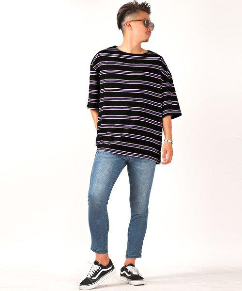 LUXSTYLE(ラグスタイル)/ボーダー柄ボートネック半袖Tシャツ/Tシャツ メンズ 半袖 5分袖 ボートネック ボーダー/pm-8610_img05