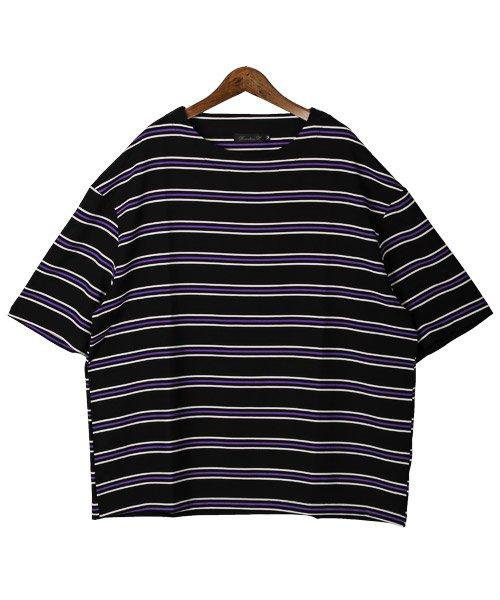 LUXSTYLE(ラグスタイル)/ボーダー柄ボートネック半袖Tシャツ/Tシャツ メンズ 半袖 5分袖 ボートネック ボーダー/pm-8610_img08