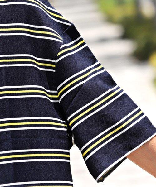 LUXSTYLE(ラグスタイル)/ボーダー柄ボートネック半袖Tシャツ/Tシャツ メンズ 半袖 5分袖 ボートネック ボーダー/pm-8610_img10