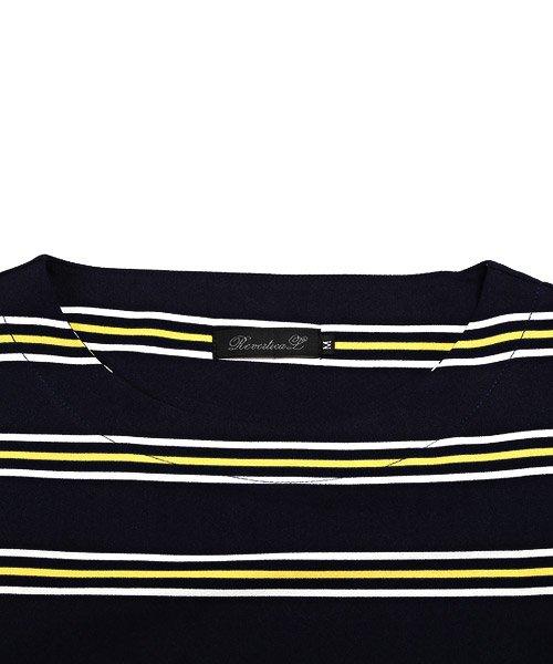 LUXSTYLE(ラグスタイル)/ボーダー柄ボートネック半袖Tシャツ/Tシャツ メンズ 半袖 5分袖 ボートネック ボーダー/pm-8610_img11