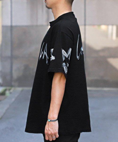 LUXSTYLE(ラグスタイル)/手書き風スター&ロゴプリントビッグ半袖Tシャツ/Tシャツ メンズ 半袖 手書き風 プリント ビッグシルエット/pm-8611_img02