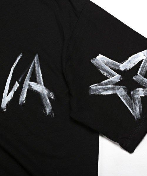 LUXSTYLE(ラグスタイル)/手書き風スター&ロゴプリントビッグ半袖Tシャツ/Tシャツ メンズ 半袖 手書き風 プリント ビッグシルエット/pm-8611_img11