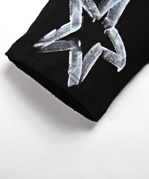 LUXSTYLE(ラグスタイル)/手書き風スター&ロゴプリントビッグ半袖Tシャツ/Tシャツ メンズ 半袖 手書き風 プリント ビッグシルエット/pm-8611_img12